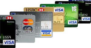 Most Major Debit and Credit Cards Accepted